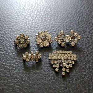 Lot of 5 VTG rhinestone pieces